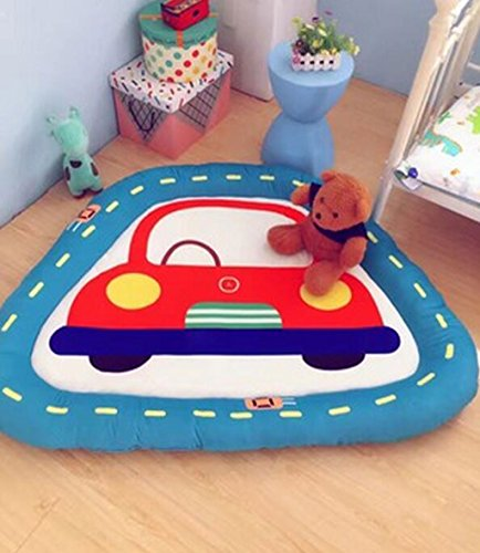 Kelly' Harvest House Alfombra de la habitación de los niños, cojín de asiento de almohada de piso, alfombra de juego de piso de la casa de animales de dibujos animados antideslizante grande para la ha