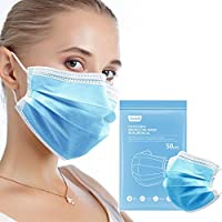 50-Pack Jiandi 3-Ply Adults Protective Safety Disposable Face Masks
