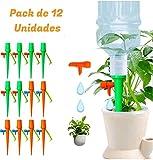 MDS - 12 Pcs Kit Sistema de Riego por Goteo con Botella | Automático y Ajustable | Autoriego de Macetas, Jardín y Huerto | Goteros Ideales para Regar Plantas en Vacaciones, Plantas de Balcón y Bonsai