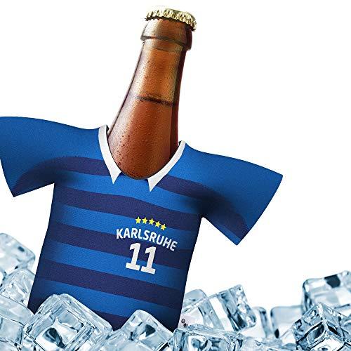 Herren Trikot 2019/20 kühler Home für KSC Fans | FUßBALL-Gott | 1x Trikot | Fußball Fanartikel Jersey Bierkühler by Ligakakao