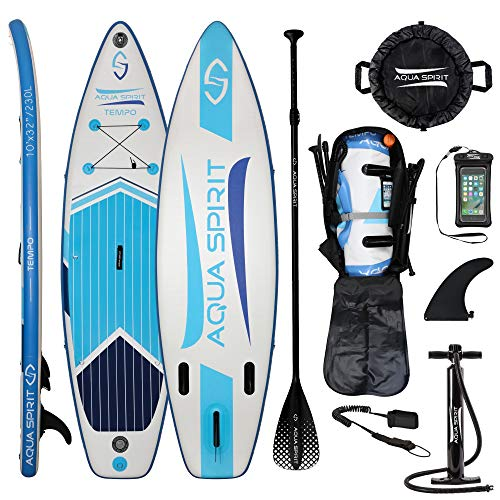 AQUA SPIRIT iSUP Stand up Paddle Gonflable Surf Planche de Paddle...