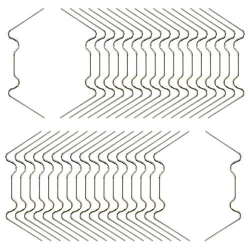 GOODGDN Clip per vetri serra, 100 pezzi in acciaio inox tipo W clip di fissaggio filo a molla tipo W per serra, vetro casa Twin-hall Web fogli