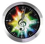 Reloj de pared violín llave/clave de sol Multicolor - bonito regalo para músicos