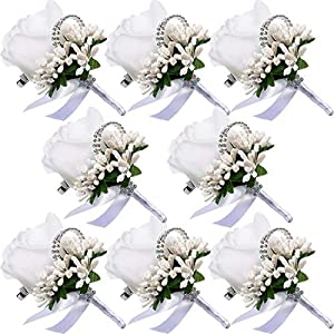 Men Wedding Boutonniere Wedding Flowers Buttonholes Accessories Groom Groomsman Prom Party Suit Decoration