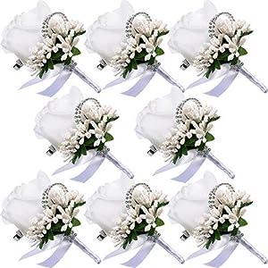 Men Wedding Boutonniere Wedding Flowers Buttonholes Accessories Groom Groomsman Prom Party Suit Decoration