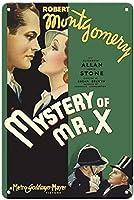 Mystery Of Mr. X ティンサイン ポスター ン サイン プレート ブリキ看板 ホーム バーために