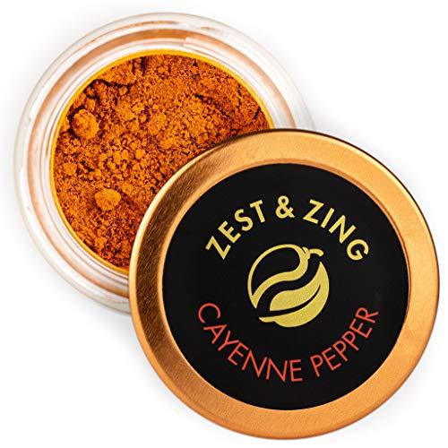 Zest & Zing Pimienta De Cayena (Molida) Tarro De Especias De 20 G - Chiles Premium De Zest & Zing. Tarros De Especias Más Frescos, Convenientes Y Apilables. 124 g (2027)