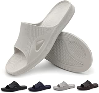 LUFFYMOMO Shower Slippers for Mens Bathroom Sandals Slip on Indoor Home House Shoes.