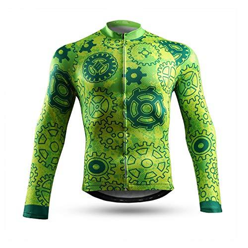 NEENCA Maillot de ciclismo de manga larga con 3 bolsillos traseros, camiseta...