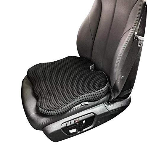 Dreamer Car Seat Cushion Pad for Car Driver Seat to Improve Driving Vision-Middle Supportive and Comfortable Seat Cushion for Car Front Seat for Tailbone Pain Relief (Black)