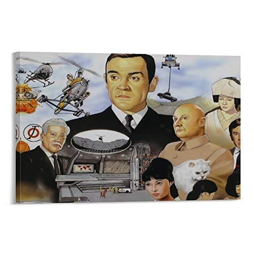 SSKJTC - Lienzo decorativo moderno para oficina, diseño de Sean Connery You Only Live Twice 1967, película clásica retro todos los personajes 007 pinturas sobre lienzo de 50 x 75 cm