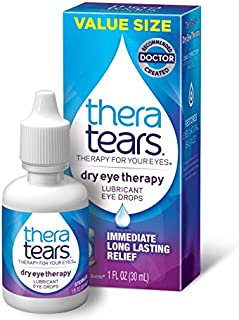 TheraTears Eye Drops for Dry Eyes, Dry Eye Therapy Lubricant Eyedrops, Provides Long Lasting Relief, 30 mL, 1 Fl oz Value Size