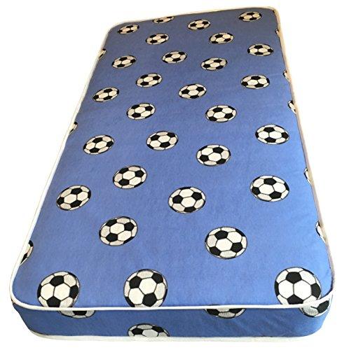 eXtreme Comfort UK ltd Basic 4' Firmer All Foam Kids Blue Football Mattress (Shorty 75x175)