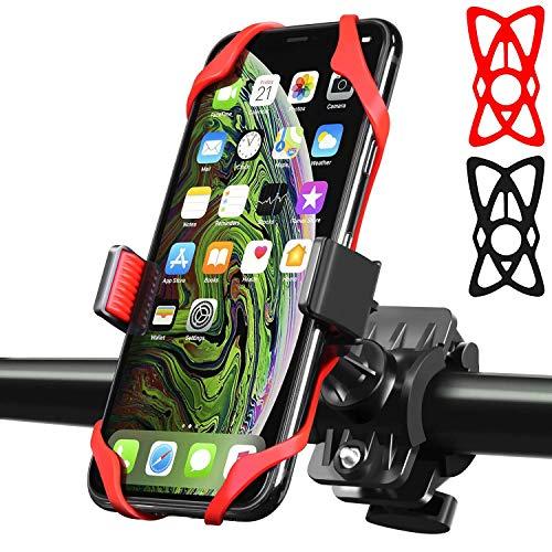 Bike Phone Mount Pro Bike-Motorcycle Mobile Phone Holder with 360°Rotation Anti Shake Compatible Smartphone