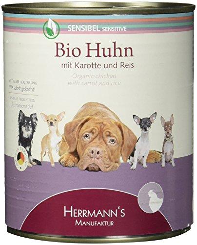 Herrmann Dose Sensibel Bio-Huhn Karotten,Reis und Fenchel, 6er Pack (6 x 800 g)