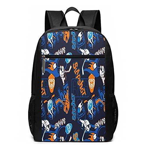 Schulrucksack Eishockey 001, Schultaschen Teenager Rucksack Schultasche Schulrucksäcke Backpack für Damen Herren Junge Mädchen 15,6 Zoll Notebook