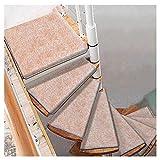 LBL Stufenmatten treppenmatten Selbstklebende, Treppenstufen Mats Pad Anti-Rutsch-Trittschutz Teppich Abdeckung Treppen Teppich Wendeltreppe Mat Kamel teppiche für treppenstufen