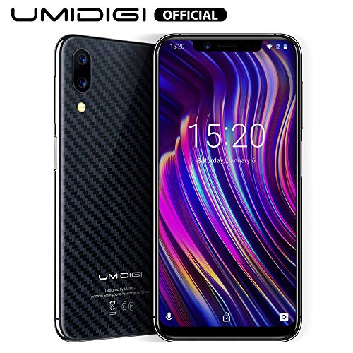 UMIDIGI Mobile One 5.9' 32GB(256GB Expandable) Unlocked Android 8.1 Cell Phone - 4GB Ram Dual-SIM 4G LTE - 16MP Selfie,12MP +5MP Dual Camera - 3550mAh Battery,Side Fingerprint ID Smartphones (Black)