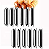 12PCS/Set Stainless Steel Cannoli Form tubi, Cream roll Mold, Corno Tubo Baking Mold in Acciaio, rivestimento antiaderente,Torta Pasticceria Spiral Roll Horn Stampo da Forno.