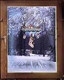 Fensterbild Windspiel Nikolausstiefel 28 x 40 cm (BxH) echte Plauener Spitze  inkl. Saughaken weihnachtliche Fensterdekoration