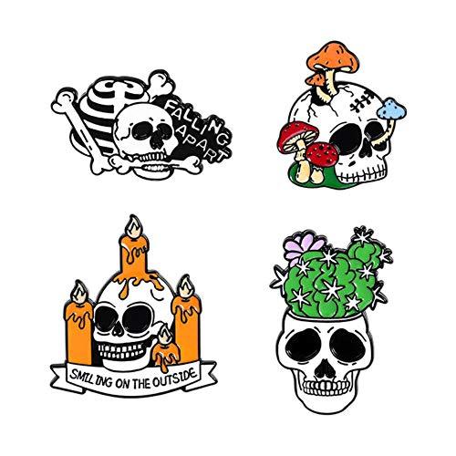 2-4 Unids/set Sushi Corazón Roto Botella de Vino Gato Esqueleto Be Kind Spray Drink Animal Broche Pin Set Esmalte Pin Insignia Mujeres Hombres-Style5