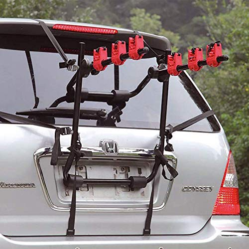 FCH Car Bike Rack 3-Bike Deluxe Hitch Mount Rack Foldable Bike Carrier Bicycle Carier for Car