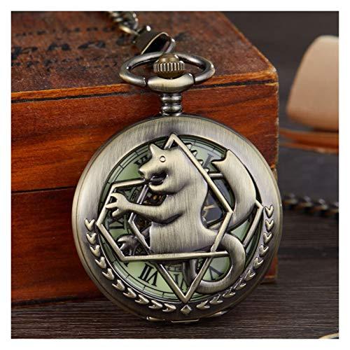 Moonlight Star Relojes de Bolsillo, Reloj de Bolsillo de Tono Retro para Hombre Reloj de Relojes Fob Cadena de Bolsillo mecánico. (Color : Mechanical Watch)