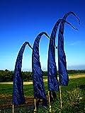 Asiastyle Bali-Fahne, Marineblau (20), 5m, Umbul-Umbul, Gartenfahne, Balifahne