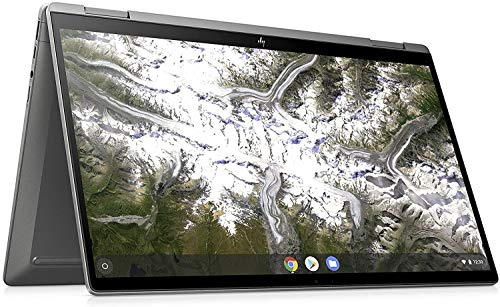 "HP - PC Chromebook X360 14c-ca0004nl convertibile, Intel Core i3-10110U, RAM 8 GB, eMMC 128 GB, Grafica Intel UHD, Sistema Operativo Chrome OS, Schermo 14"" FHD IPS, USB-C, Lettore Micro SD, Argento"