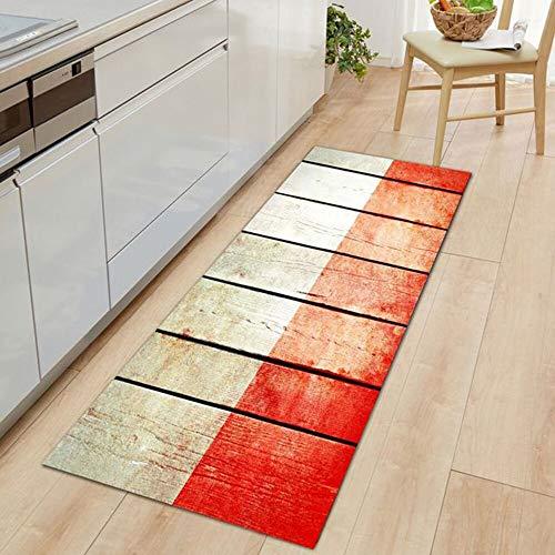 OPLJ Alfombra de madera personalizada para cocina, salón, pasillo, balcón, alfombra de baño, alfombra de baño, A22, 40 x 60 cm