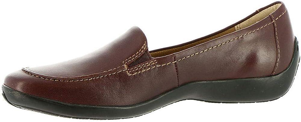 Array Womens Addie Leather Slip On Loafers Purple 8.5 Medium (B,M)