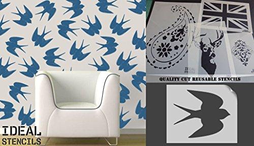 Schablone Schwalben, Home Dekoration Malerei/Craft Schablone, plastik, XS/ 4.5 x 5.4 inches