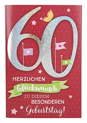 Depesche 5698.077 - Glückwunschkarte mit Musik, 60. Geburtstag