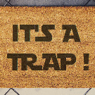 Star Wars Inspired Welcome Doormat coconut It's a Trap
