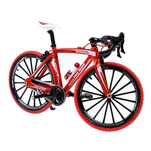 HANGOU Deko Finger Bikes Spielzeug im Maßstab 1:10 Druckgusslegierung Rennrad Modell ATVs Modell Rennradfahrzeuge Modell Geburtstagsgeschenke