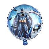 SauParty Helio Globo de Plástico Niños Regalo de Cumpleaños Batman Murciélago Globo Decoración