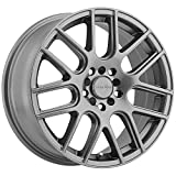 Vision 426 Cross Gunmetal Wheel with Painted Finish (15 x 6.5 inches /4 x 100 mm, 38 mm Offset)