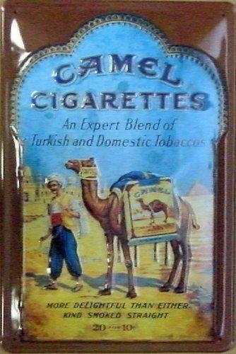 Camel-Targa in metallo con pubblicità vintage delle sigarette (na) 2030