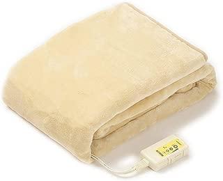 LIFEJOY 日本製 電気毛布 掛け 敷き 洗える 室温センサー付 ふかふか強化 188cm×130cm ベージュ JBK802F-C