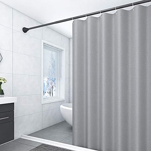 Douchegordijn Waterdicht Badkamer Gordijnen Wasbaar Stoffen Badkamerdecoratieset Met Haakjes,Gray,180 x 180 (H) cm
