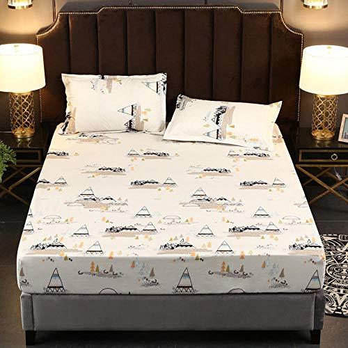 YFGY Textiles Spannbettlaken SpannbetttuchEinzel, Cartoon wasserdichte Bettwäsche, Dicke Matratzenschoner, geeignet für Kinder Schlafzimmer 90 * 200cm U