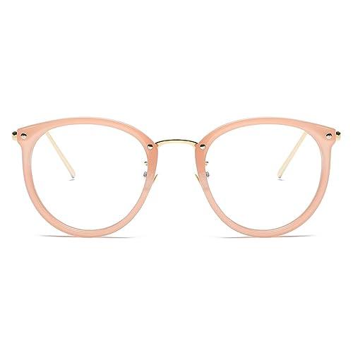 672820b149a Amomoma Fashion Round Eyewear Frame Eyeglasses Optical Frame Clear Lens  Glasses AM5001