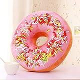 Wuliang Donut-Kissen, Plüsch-Schlafsaal-Schlafkissen für Büro-Schule, PP-Baumwolle gefülltes...