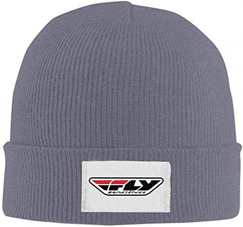 Klsify Beanie Hats Fly Rac-ing Corpo-ratef Cuffed Plain Cuff Knitted Slouchy Hats for Men Women-Darkgrey-a-OneSize