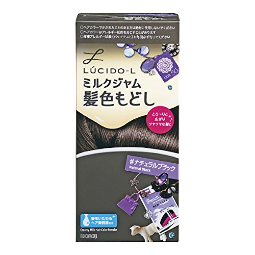 LUCIDO-L(ルシードエル)ミルクジャム髪色もどし#ナチュラルブラック(医薬部外品)(1剤40g2剤80mLTR5g)