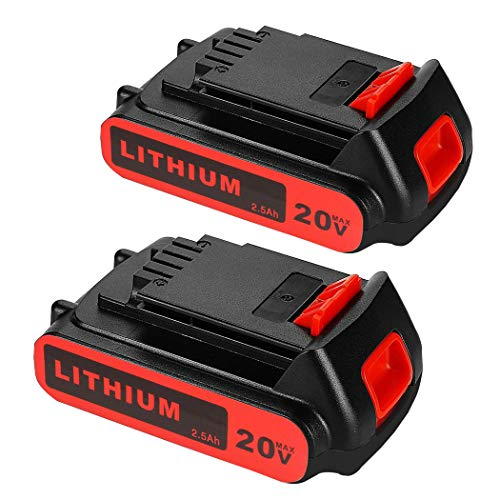 2 Pack LBXR20 2.5Ah Replacement Battery for 20V Black and Decker LBXR20-OPE LB20 LBX20 LBX4020 LB2X4020-OPE Cordless Power Tools
