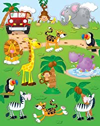 carson dellosa jungle safari shape stickers