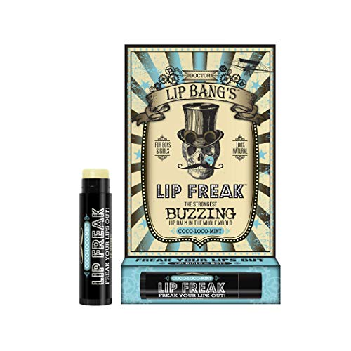 Doctor Lip Bang#039s Lip Freak Lip Balm | All Natural Buzzing Lip Balm  CocoLocoMint 015 oz