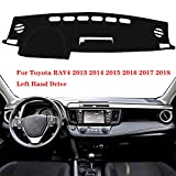 Oneuda Flannel Dashmat Dashboard Cover Dash Pad Car Mat Carpet Sun Shade forToyota RAV4 2013 2014 2015 2016 2017 2018 RAV 4 Anti-Slip Dash Board Cover Auto Accessories