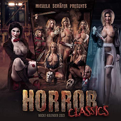 """Quartett.net Micaela Schäfers""""Horror Classics"""" Erotischer Wandkalender 2021"""